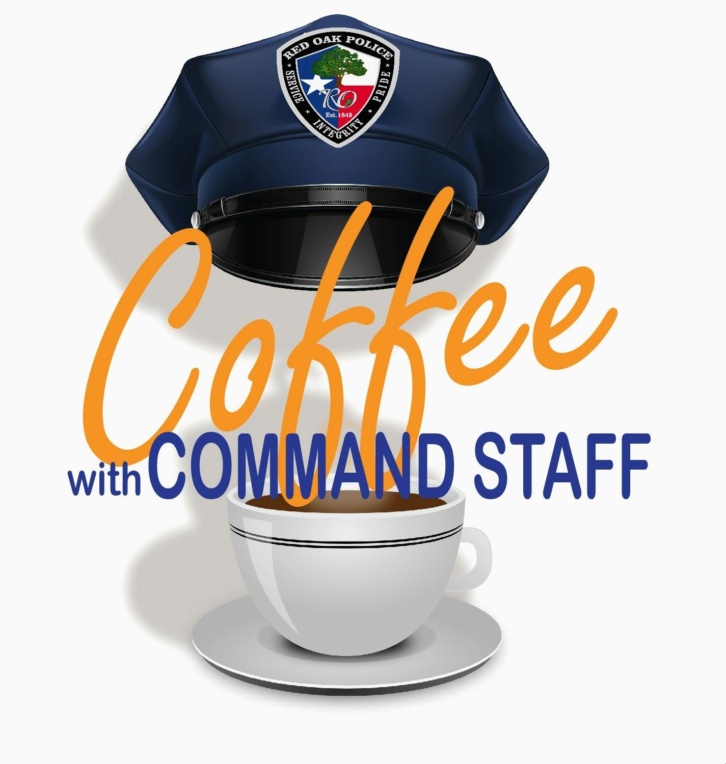 Coffee with the command staff